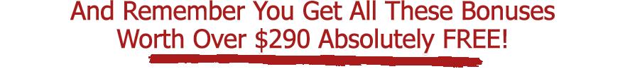 $290 Bonuses
