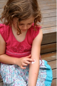 Little Girl Treating Eczema